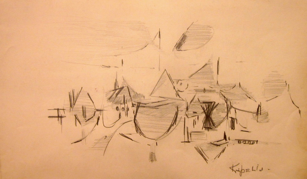 "Wellfleet, MA  Graphite on paper  Framed, 12"" x 16"""