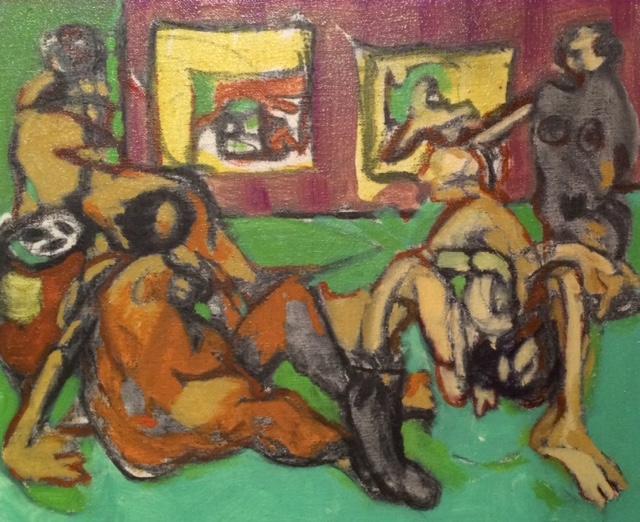 "Mauve Essence  Oil on canvas  Framed, 12"" x 15"""