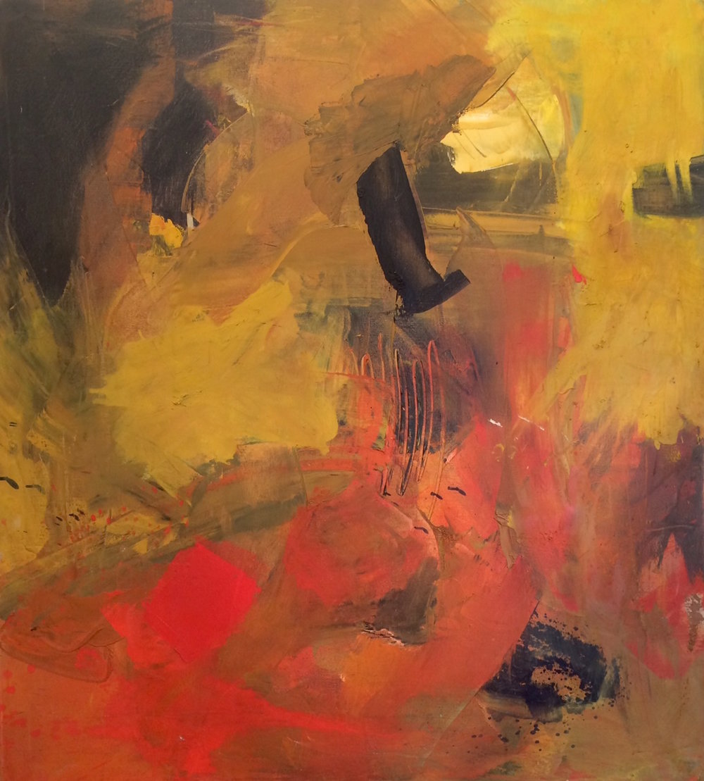 "Abstract VII  Oil on canvas  30"" x 30"""