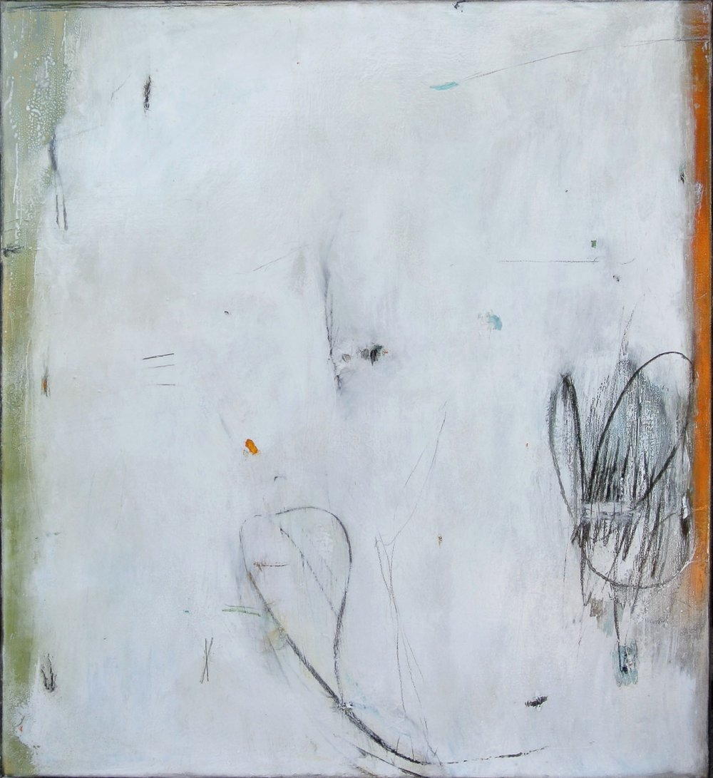 "Untitled 17-13  Mixed media on canvas  52"" x 47"""