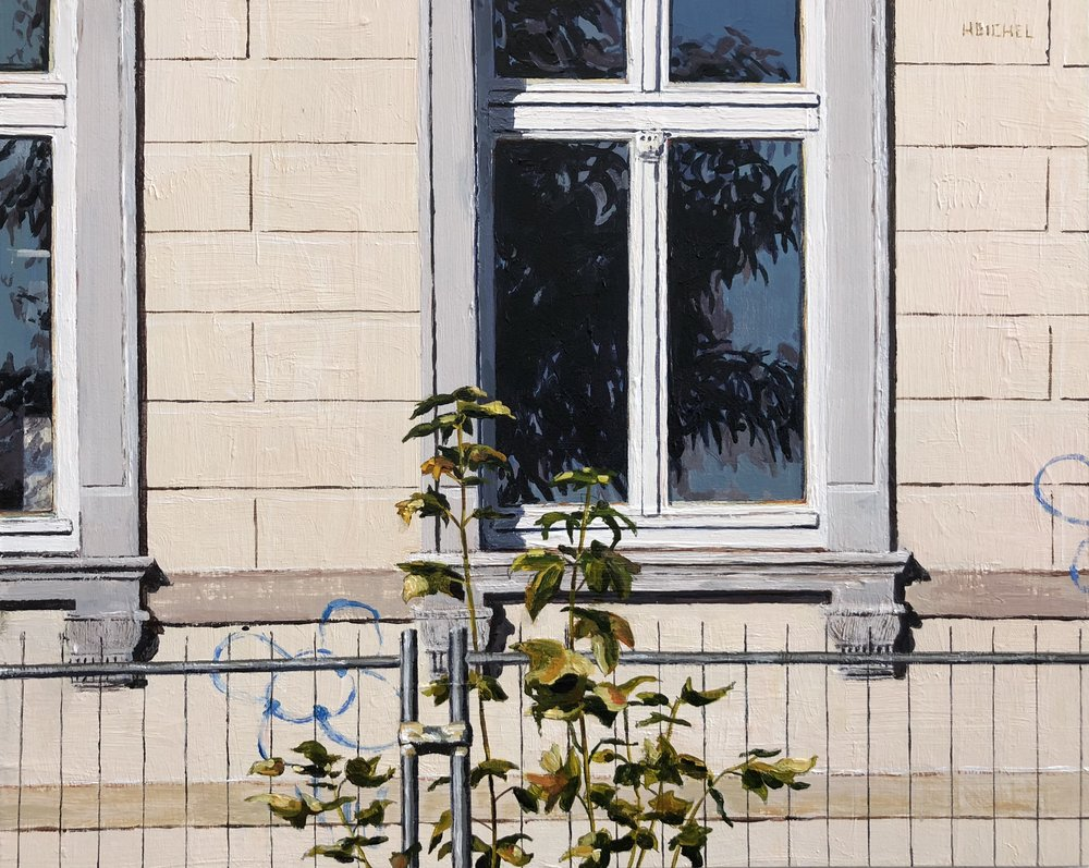 "Dresden Window V  Acrylic on panel  8"" x 10"""