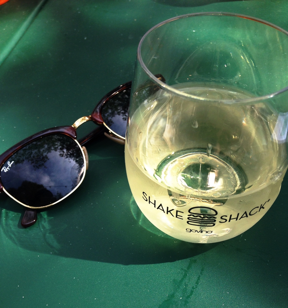 Sitting in Madison Square Park grab a glass of organic, biodynamic wine made by Frog's Leap.