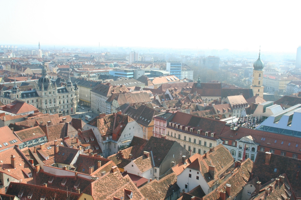 Graz Rooftops as viewed from Schlossberg