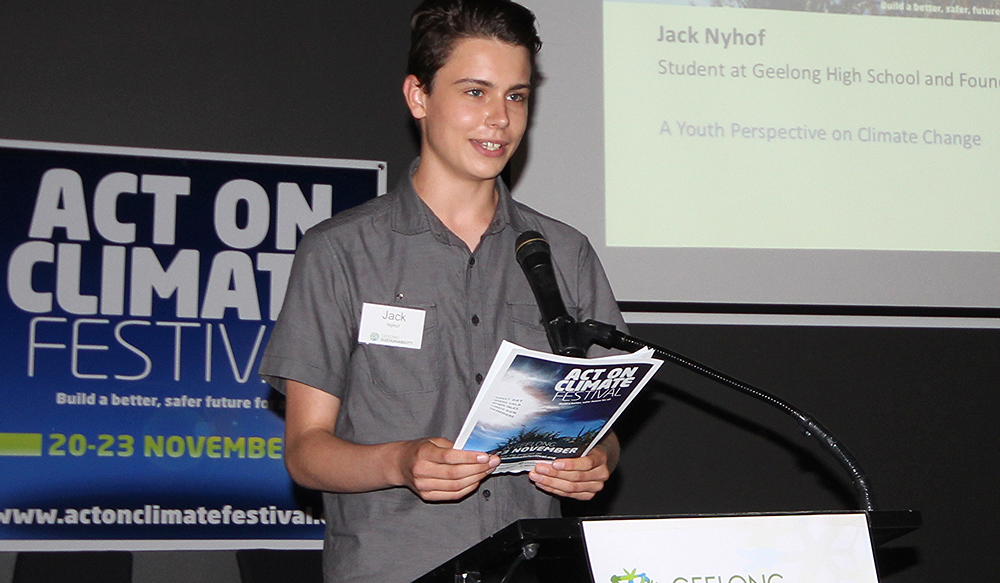 Jack Nyhof.  Photo- Geelong Sustainability Group