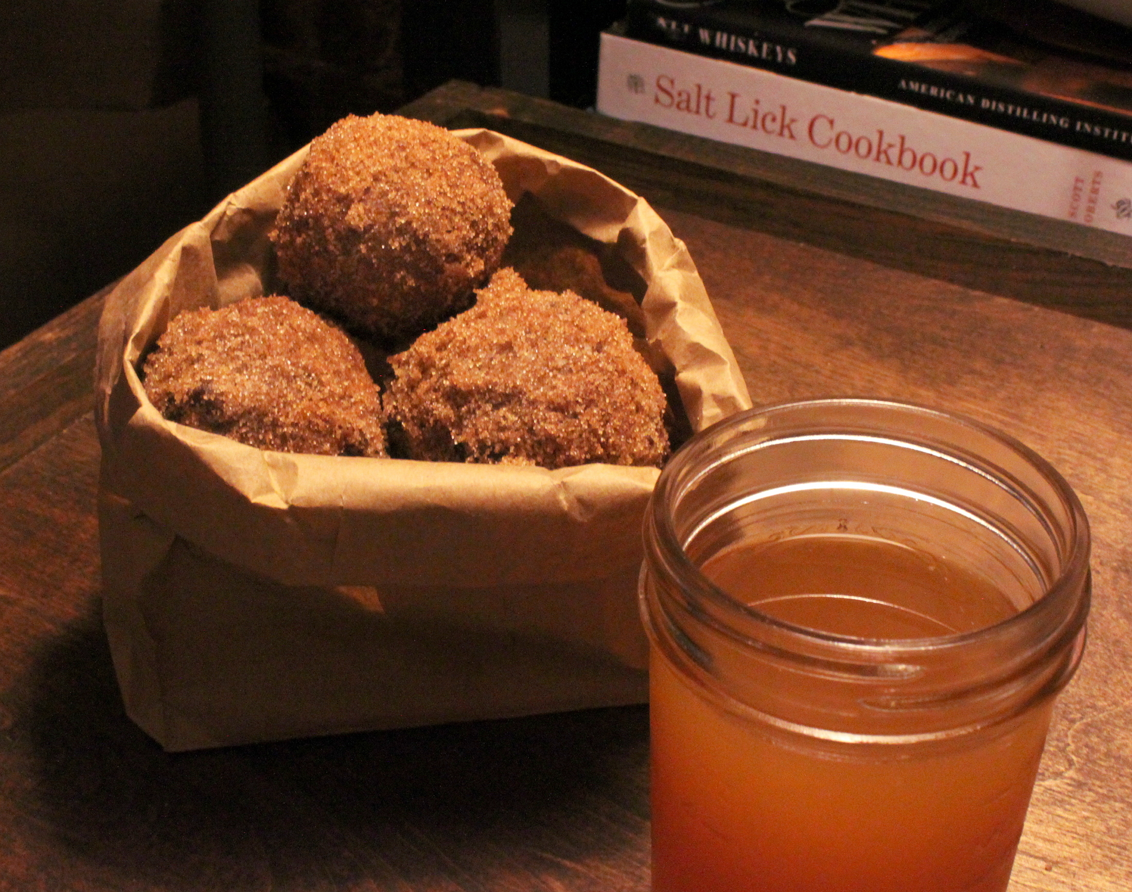Sour Cream Apple Cider Donut Holes
