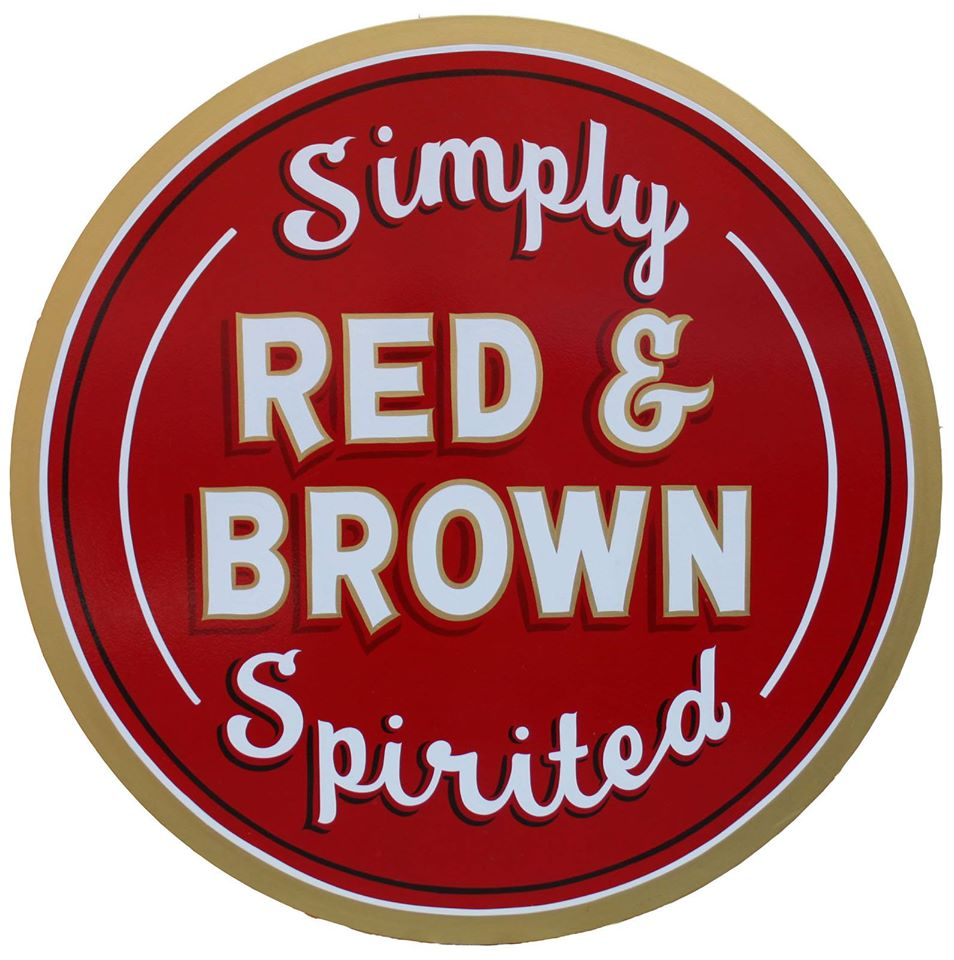 red and brown logo