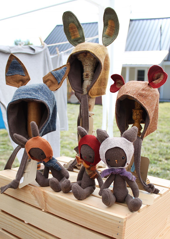 How adorable are these little rabbit hats and bunnies? If you're like us, you immediately thought LOUISE of Bob's Burgers, but that wasn't the original intention for VT's Mountain Honey Clothier, who makes creative clothing for kids to be able to express themselves.