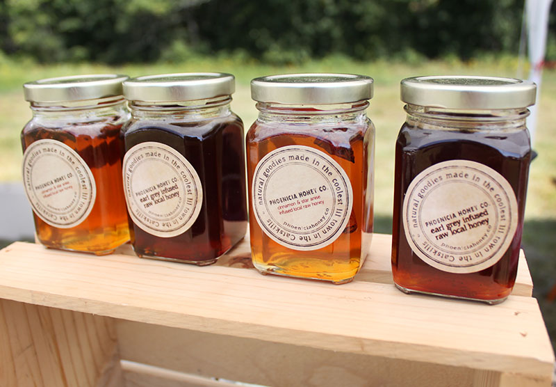 Our booth buddy, Elyssa, makes these incredible honeys from local apiaries and then infuses them with flavors like Earl Grey, Chocolate and Bergamot, and Cinnamon and Star Anise. If you haven't had Phoenicia Honey Co. yet, you need to find them.