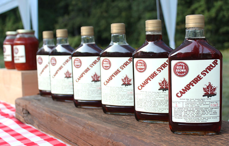 Our Campfire Syrup: the one and  only  smoked maple syrup on the market.