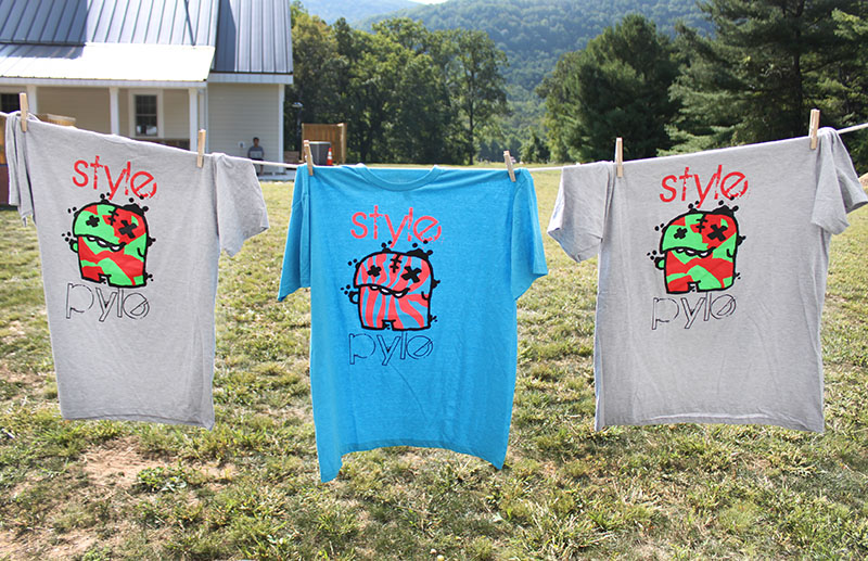 Making awesome stuff runs in the family. Elyssa's, talented son, Zoren, designs these screen-printed tees along with organic surf wax and gear and he's only 13!