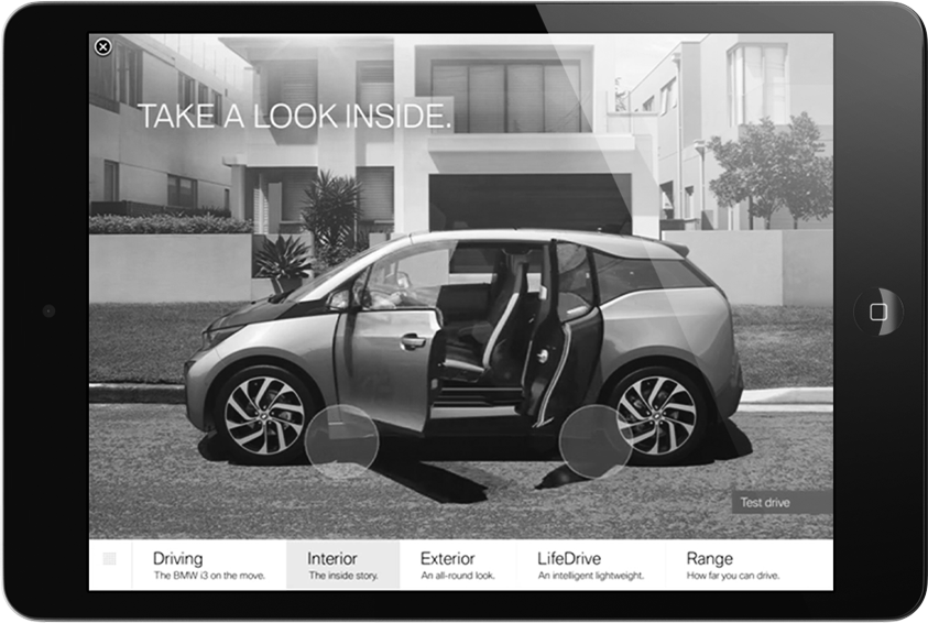 BMW i3 iAd Campaign  Interactive / Mobile  → Showcase