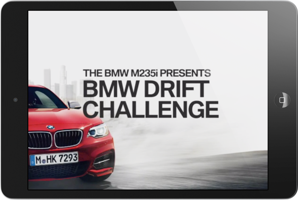 Drift Challenge  Interactive iAD  → Showcase