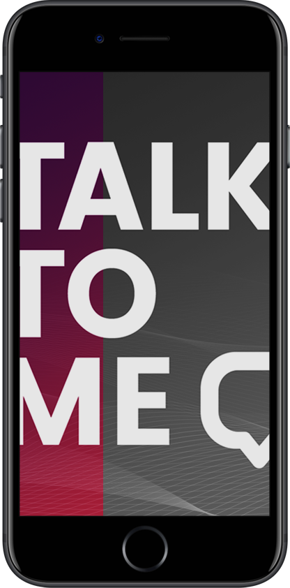 Talk to me! (Hackathon)  Visual design & organizer  → Showcase