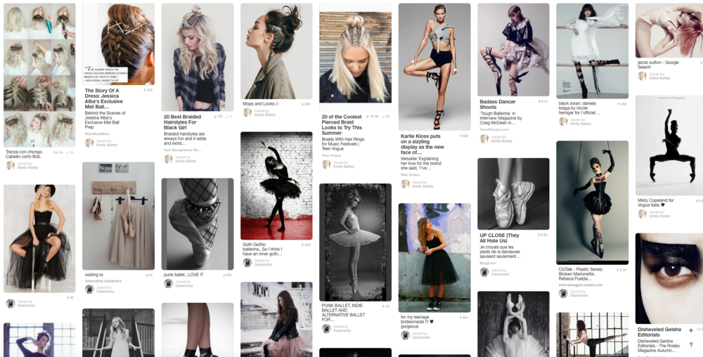 Some of the inspiration for the shoot on Pinterest @enbphoto
