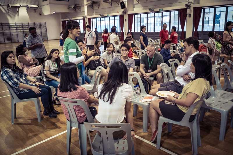 Volunteer briefing.