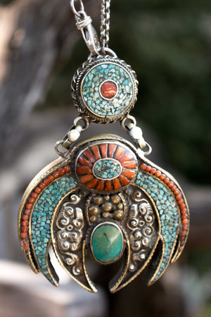 Antique coral and turquoise tibetan pendant antique coral and turquoise tibetan pendant aloadofball Choice Image
