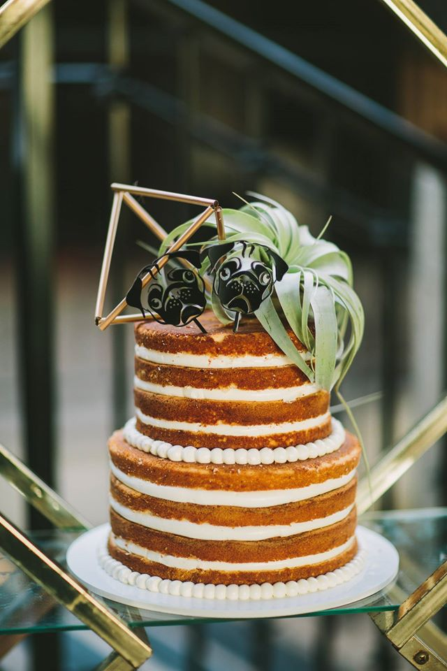 still a hot trend the 'naked cake' with minimal icing yet still tons of taste
