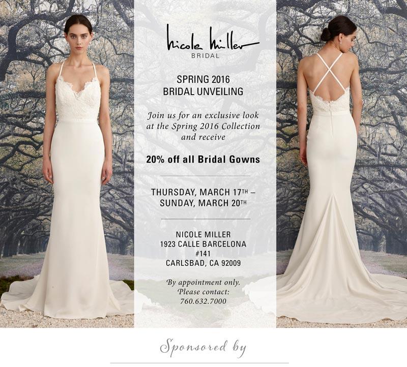 nicole miller on sale wedding dress