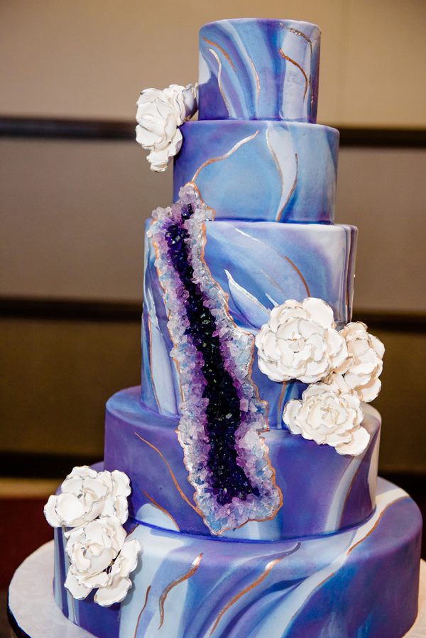 The Geode Cake By Flour Power Cakery Will Be Sure To WOW Your Guests - Geode Wedding Cake