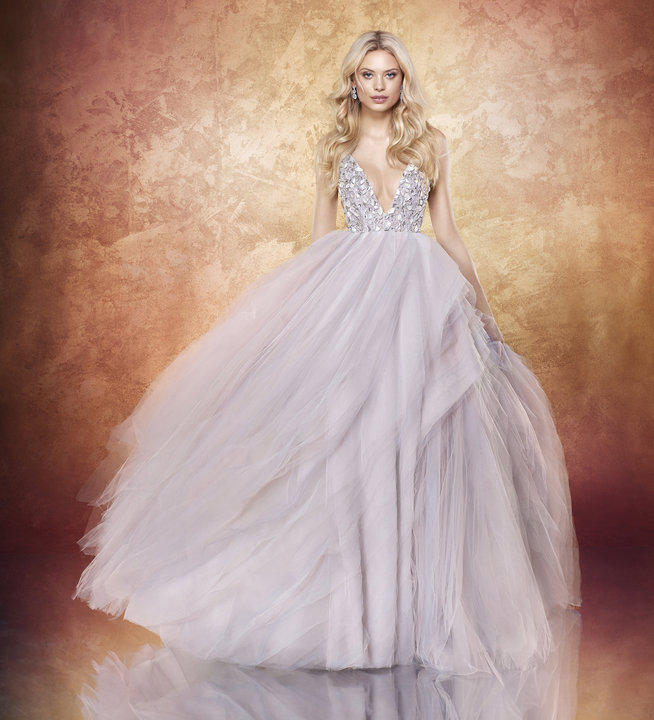 Gorgeous Hayley Paige bridal gown rocks texture and color