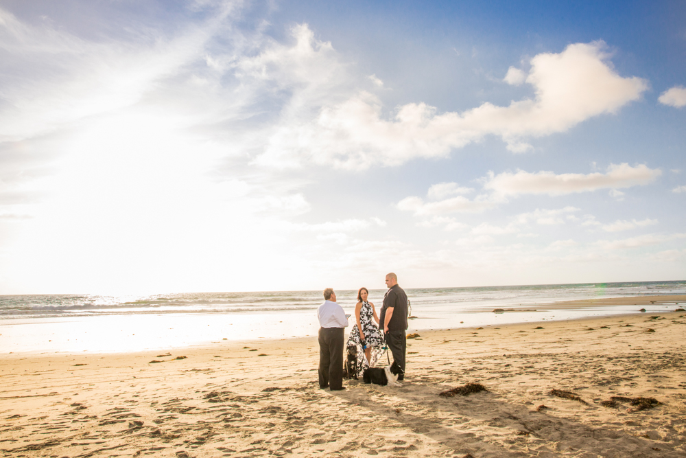 Quiet And Casual This Intimate San Diego Beach Wedding Speaks Volumes About Love