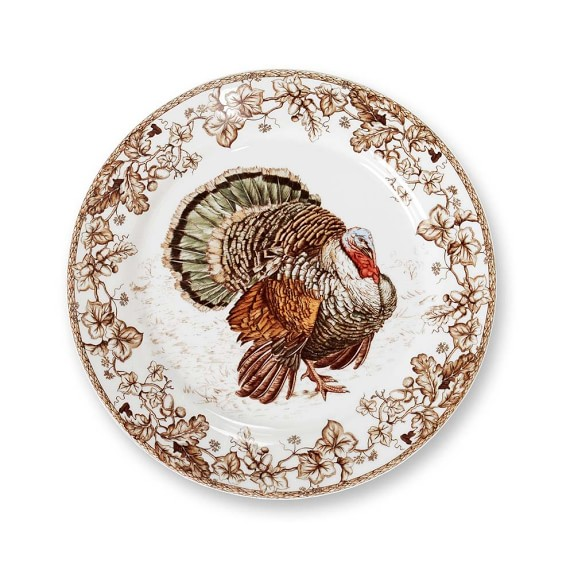 The Plymouth Turkey design special occasion plates by Williams Sonoma.