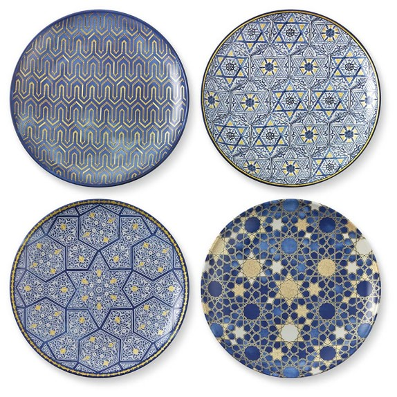 The Hanukkah specialty pattern from Williams Sonoma special occasion dishware.