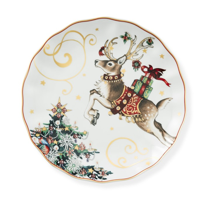 Twas the Night Before Christmas pattern from Williams Sonoma special occasion dishware.