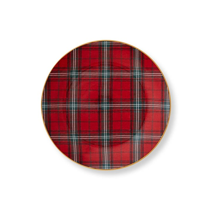 The Tartan pattern by Williams Sonoma special occasion dishware collection.