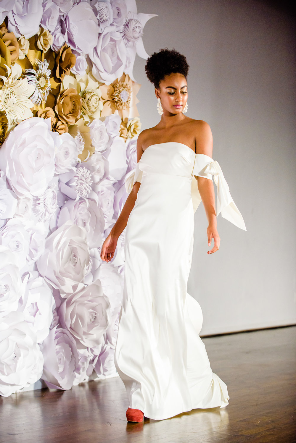 Just one of hundreds of designer bridal gowns to be seen on the runway at the Wedding Party EXPO!