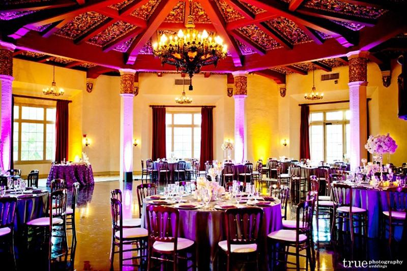El-Cortez-wedding-venue-Don Room Purple and Amber Uplights.jpg