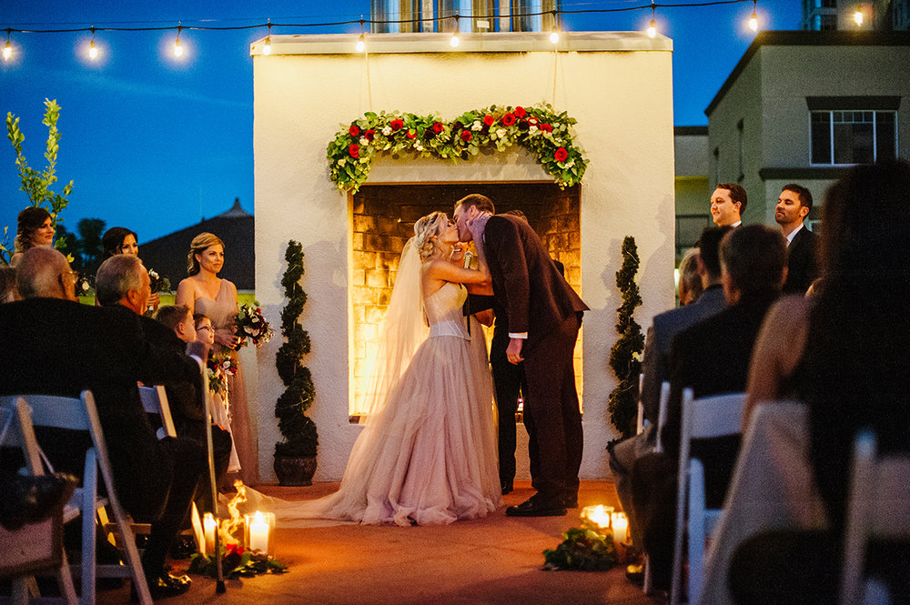 El Cortez San Diego Wedding Venue -BILLBOARD fireplace couple - high res .jpg