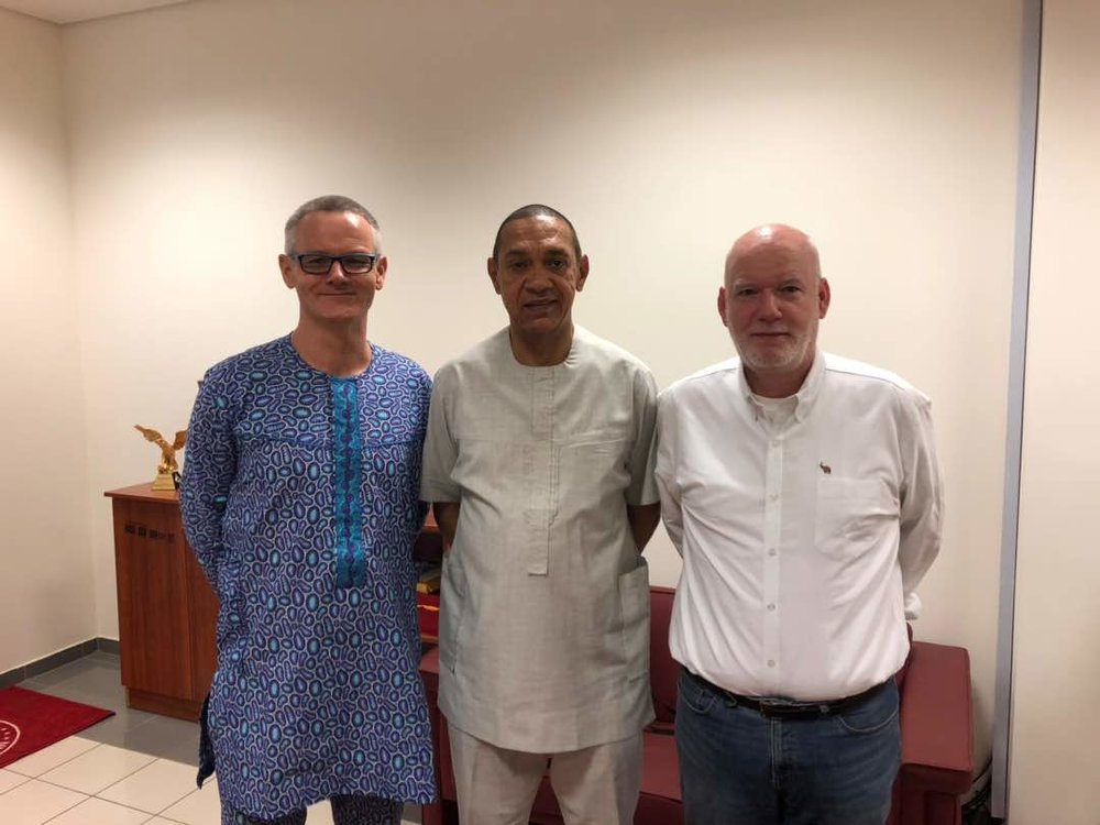 Andrew Dunn - WCS  / Senator Ben Murray-Bruce / Dane Waters - The Elephant Project