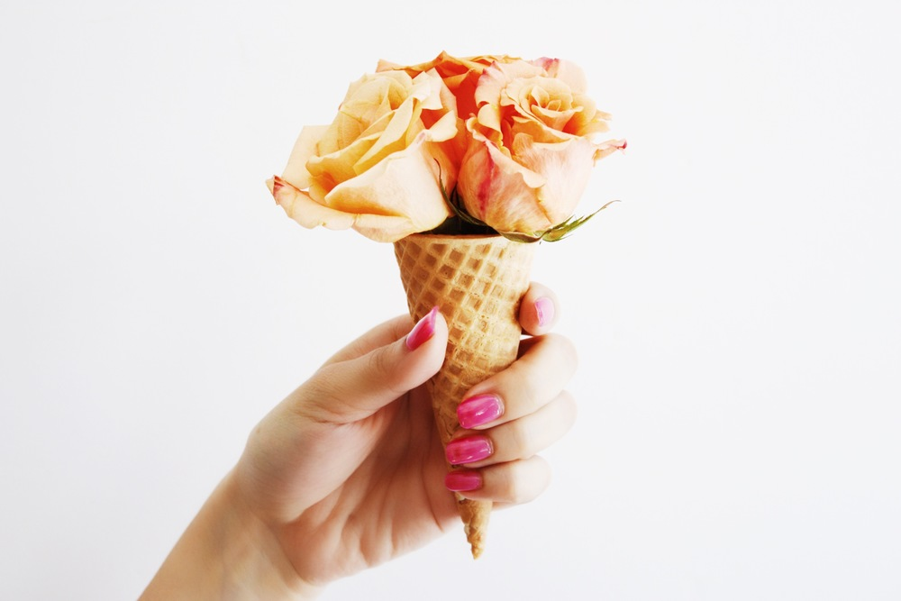 Peach Ice Cream Roses