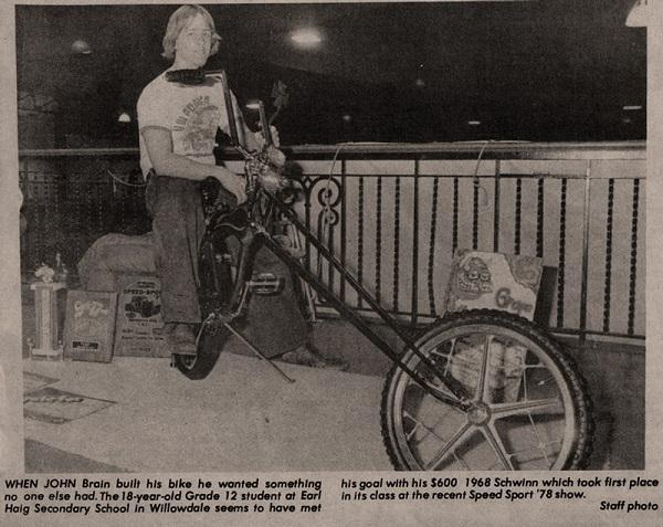 1978 John Brain in newspaper with his chopper.jpg