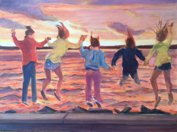 "Sunset Jumpers 18 x 24"" Acrylic"