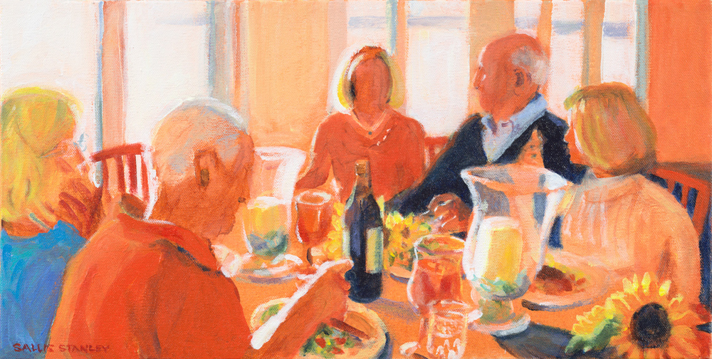 "Sunset Dinner 10 x 20"" Acrylic"