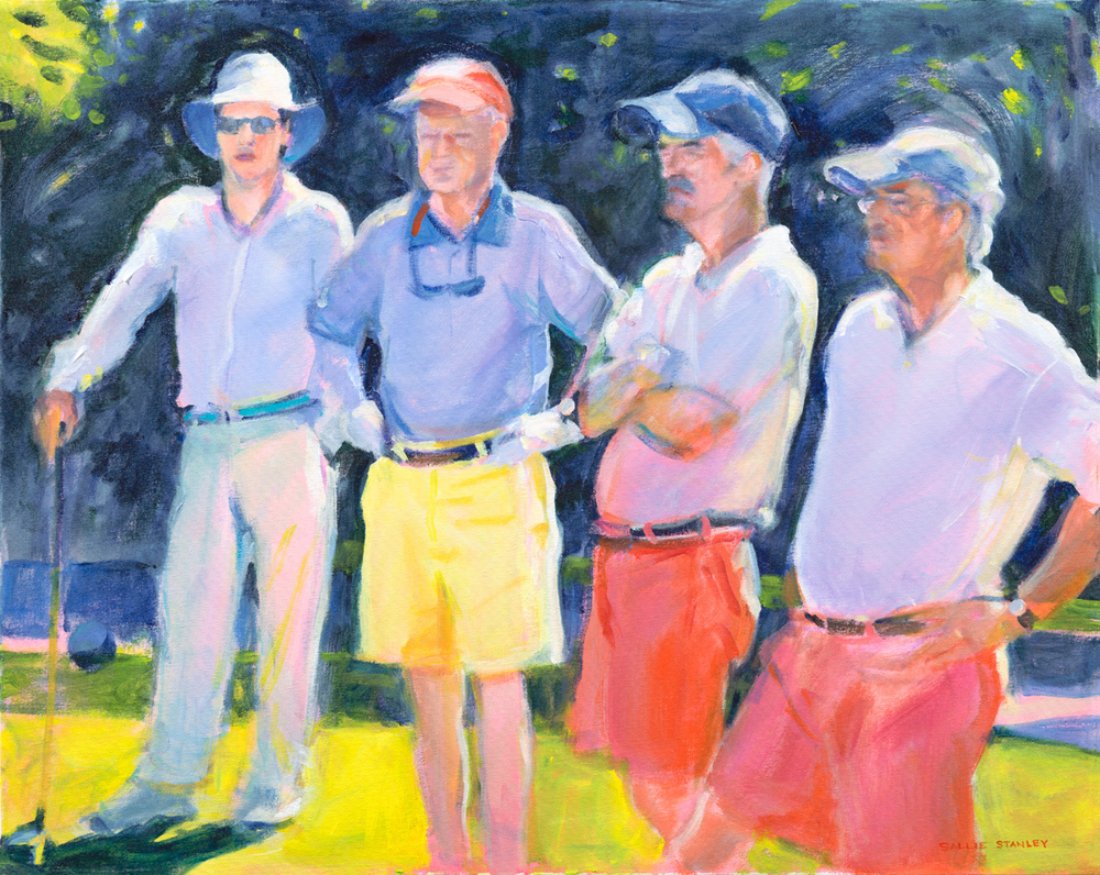 "Waiting for Tee Time 24 x 30"" Acrylic"
