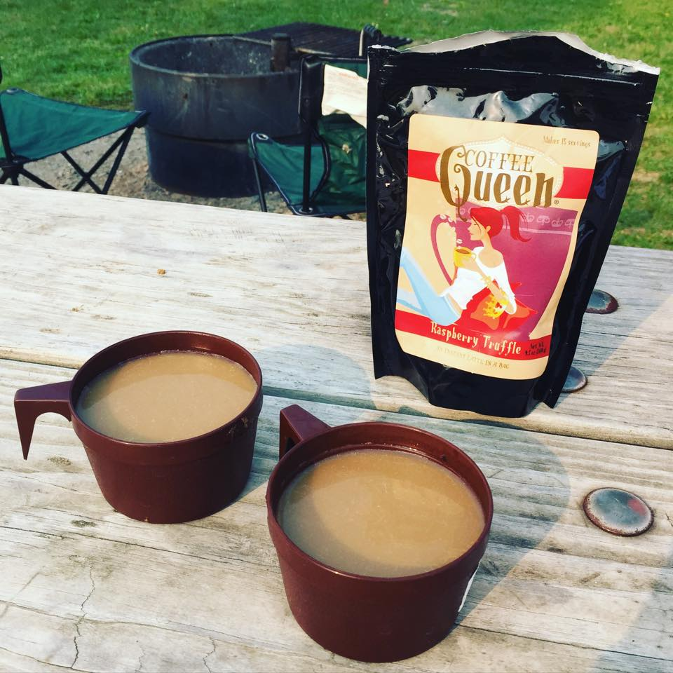 "If you like to go camping, find yourself a really good, instant coffee! I am now a firm lover of Coffee Queen Coffee. Instant flavored lattes in a bag. Boil water, mix and done! We've met the owner and she's a fun, local #Minnesota lady who is a self-proclaimed coffeeaholic.  - from the blog "" a life more complete"""