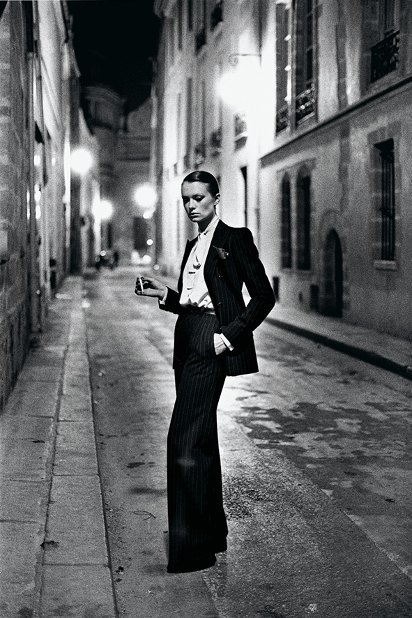 Yves Saint Laurent French Vogue Rue Aubriot Paris 1975 C Helmut Newton Estate.jpeg