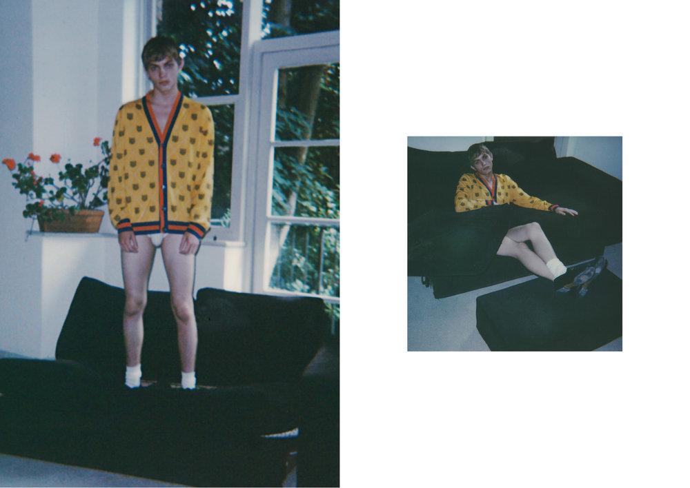 Knitwear  Gucci,  underwear  Comme Des Garçons Shirt,  socks  Falke  & shoes  Gucci