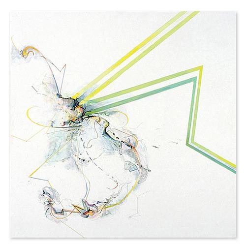 """66°N/42°N #2    / Acrylic, ink on canvas / 45"""" x 45"""" / 2004"""