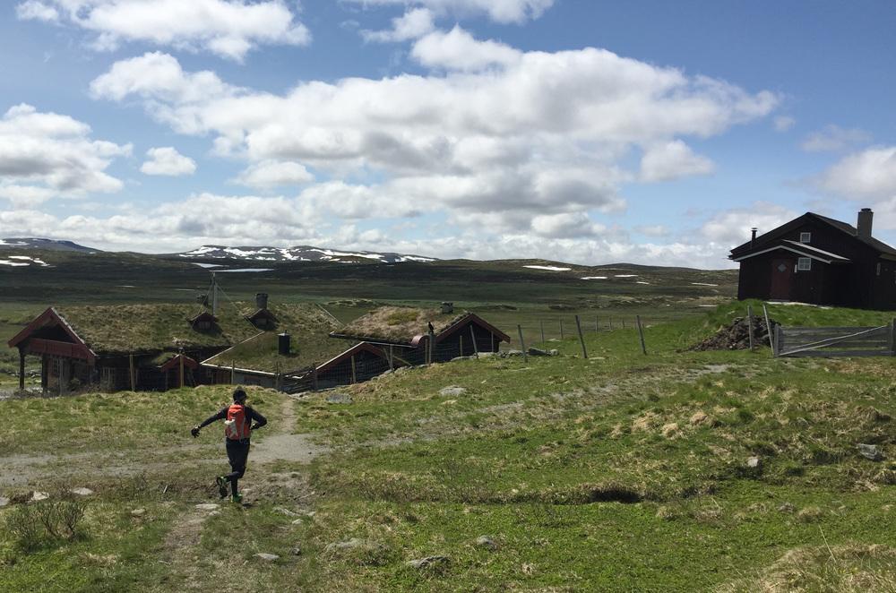 Første etappe på 9 km til Tuva turisthytte er unnagjort.
