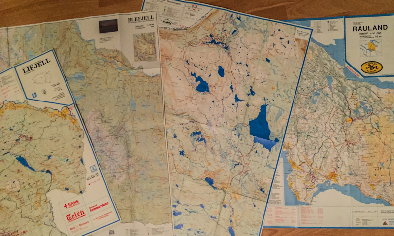 Kart over fjellene vi ble tatt med i oppveksten og som etterhvert ble utforsket uten foreldre.