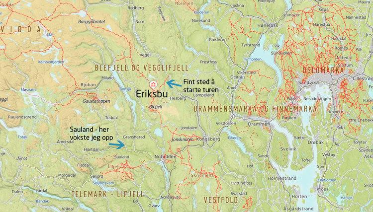kart over lifjell Blefjell: Lag din egen rute utenfor stiene — Sidespor kart over lifjell