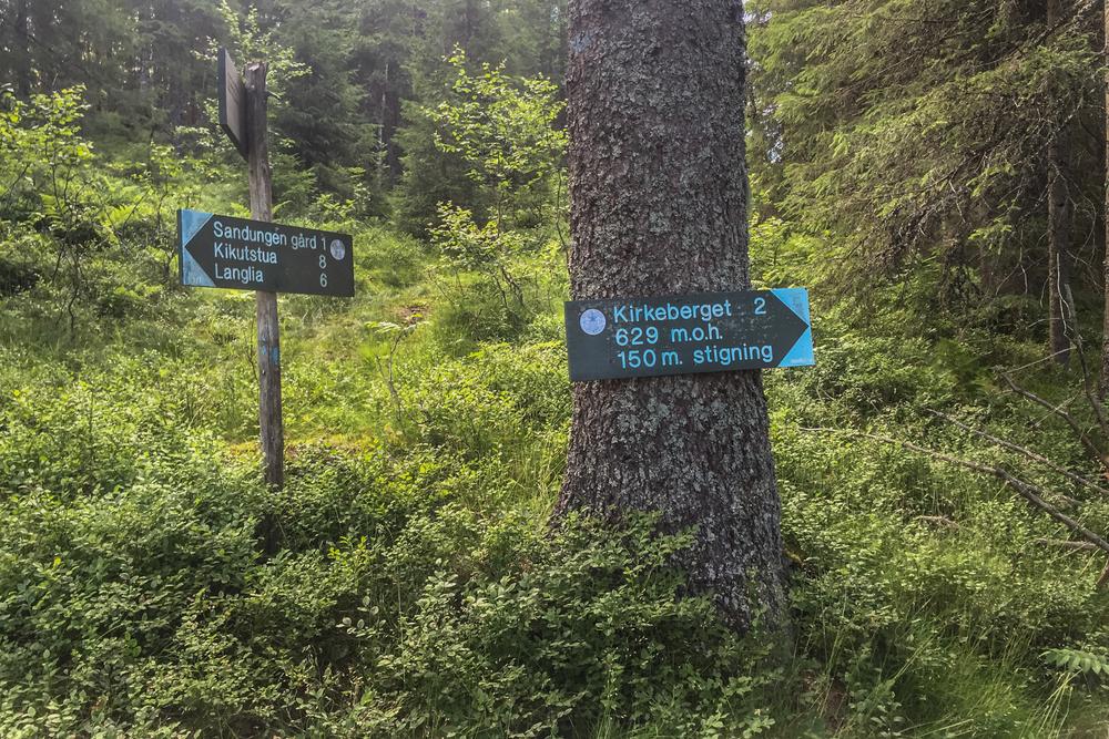 NUC 54 ruta har en avstikker opp til Kirkeberget og ned igjen hit. Jeg er allerede sent ute og står over denne gang.