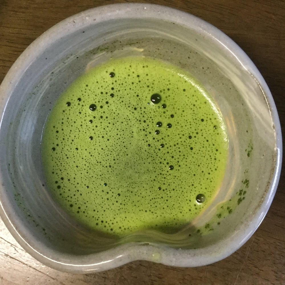 Ooh how beautiful - a fresh bowl of matcha.  There is such a high level of aesthetic to Japanese food and drink.