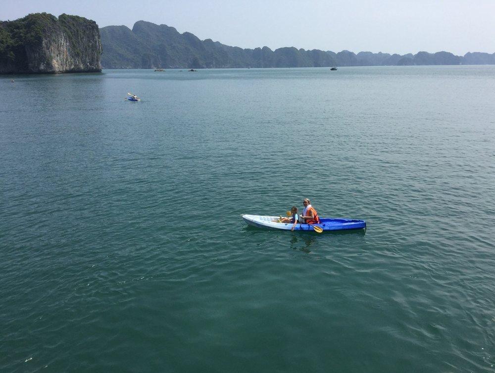 Kayaking was awesome - hope this photo communicates the feeling.