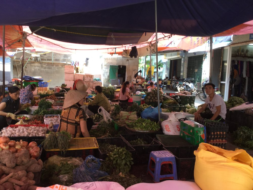 Vegetable vendors.