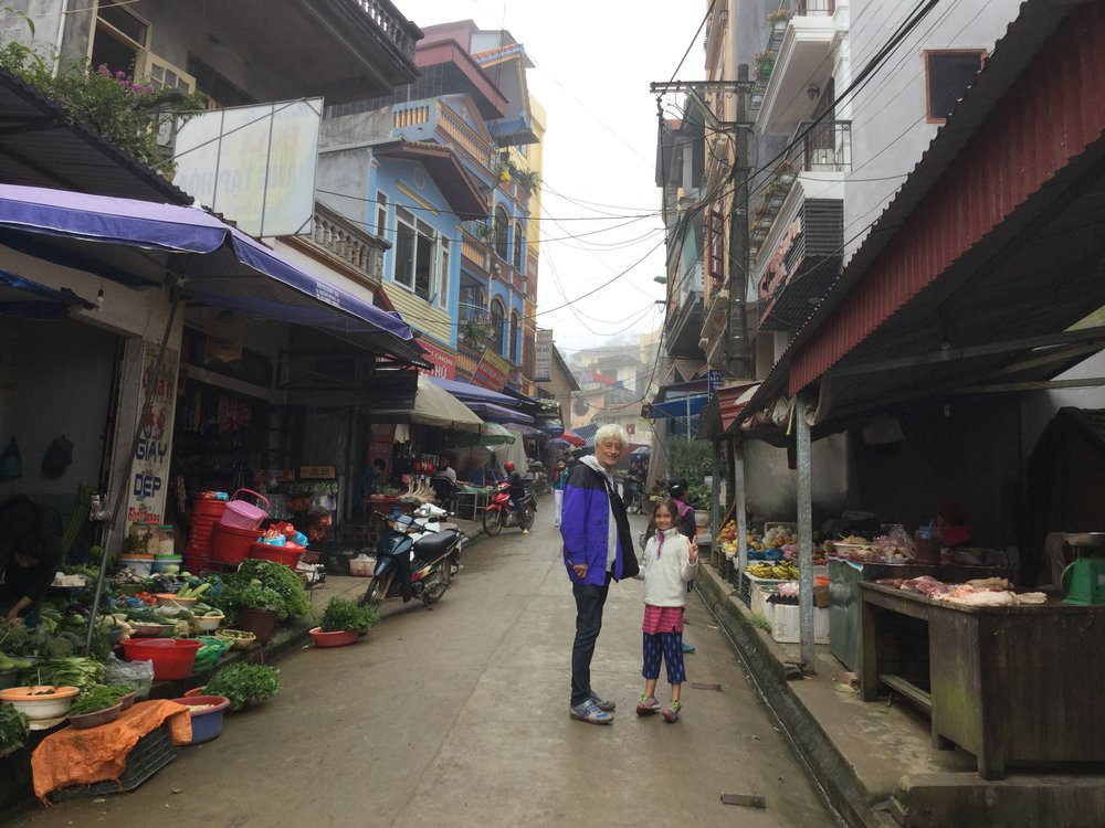 A quick picture from the town of Sapa on the way here.